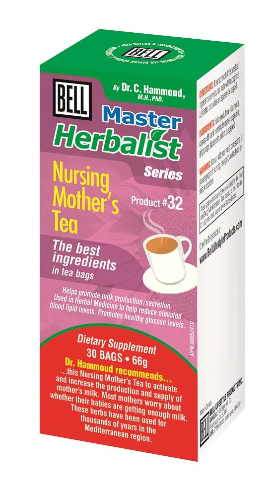 BELL Nursing Mother's Tea 66g 30bags