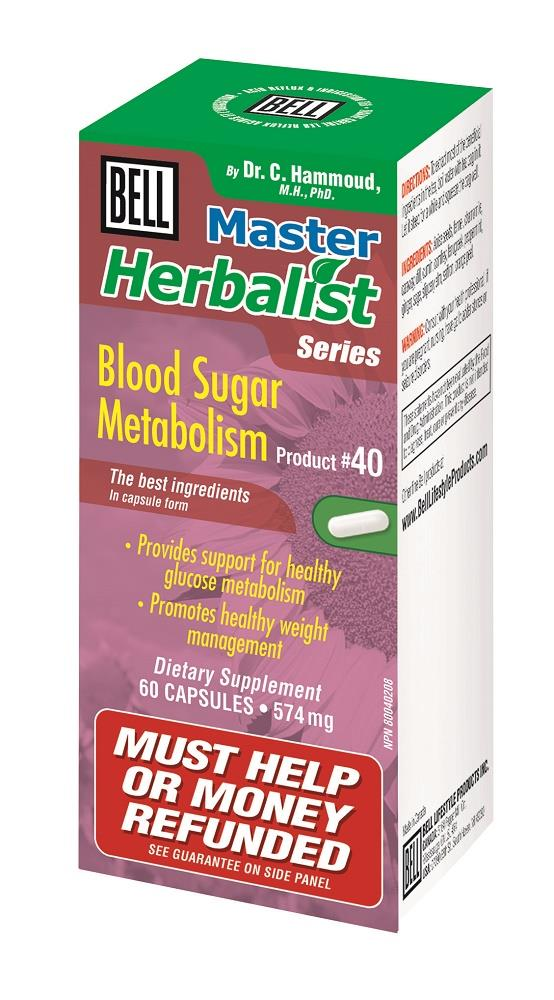BELL Blood Sugar Metabolism 574MG 60caps
