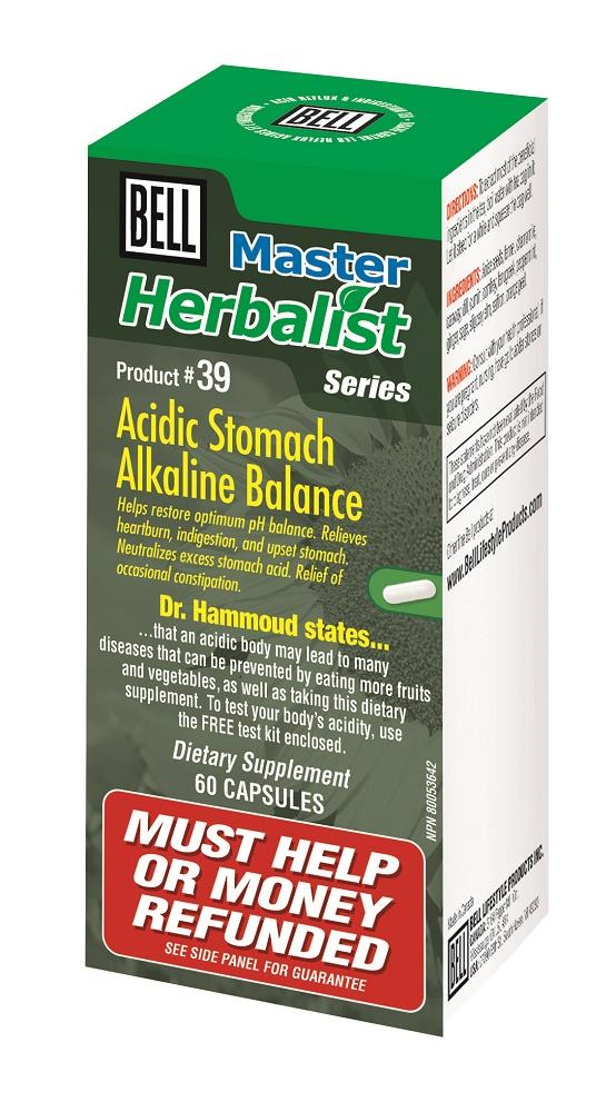 BELL Acidic Stomach Alkaline Balance 60caps
