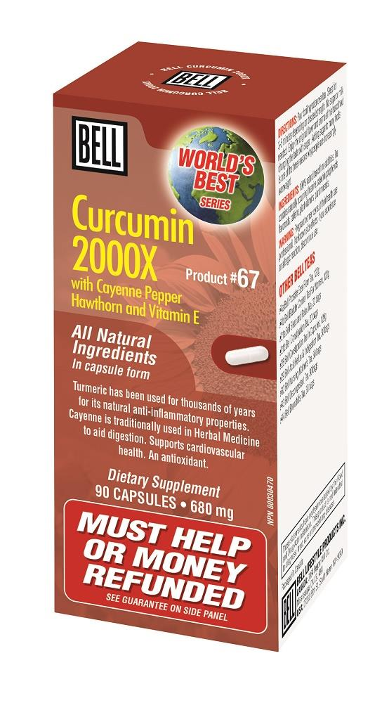 BELL Curcumin 2000X Cayenne Pepper 680mg 90caps