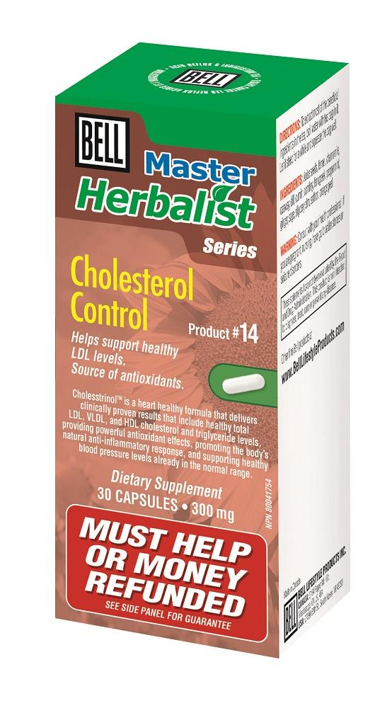 BELL Cholesterol Control 300MG 30caps