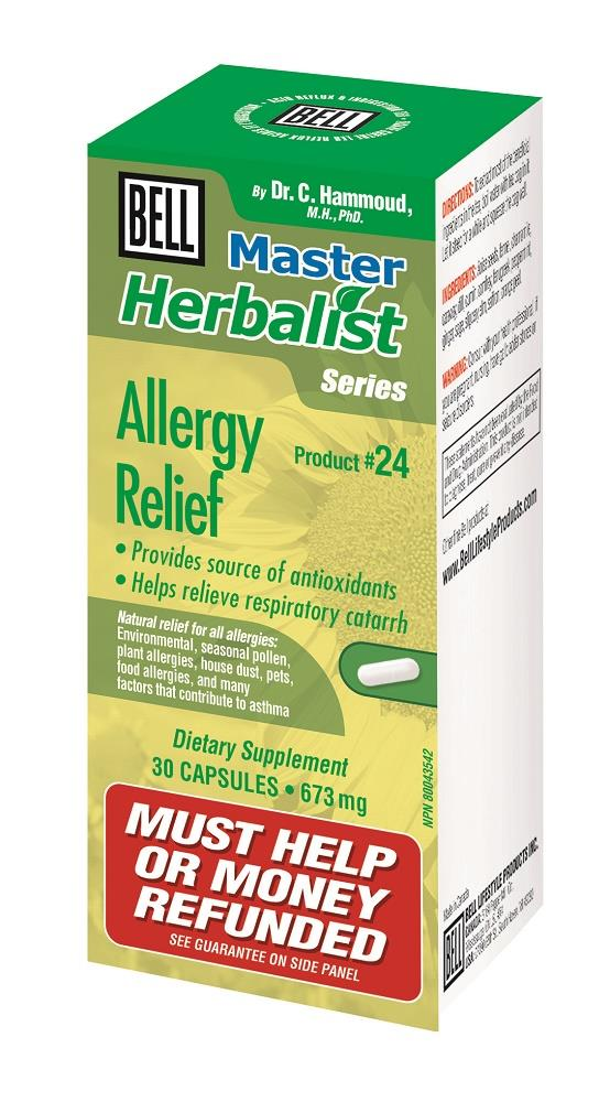 BELL ALLERGY RELIEF 673MG 30 CAPSULES