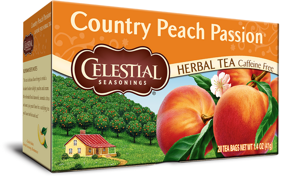 Celestial Seasonings Country Peach Passion Herbal Tea 20 Bags