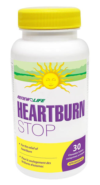 RENEW LIFE HEARTBURN STOP 30 CHEWS