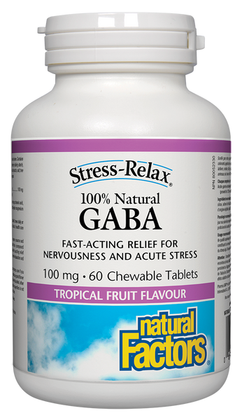 Natural Factors Gaba 60 Chews