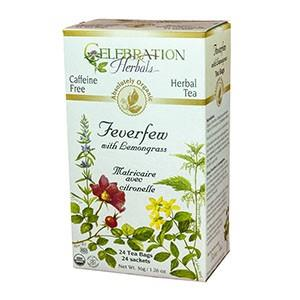 Celebration Herbals Feverfew Lemongrass Tea 24 Bags