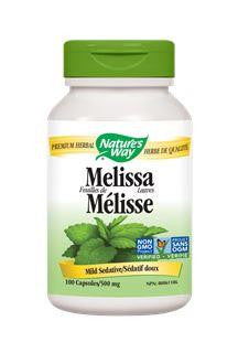 Nature's Way Melissa Leaves 500mg 100Vcaps