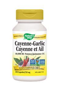 Nature's Way Cayenne & Garlic 530mg 100caps