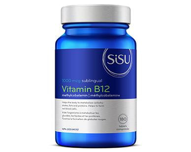 SISU Vitamin B12 1000mcg Methylcobalamin 180caps