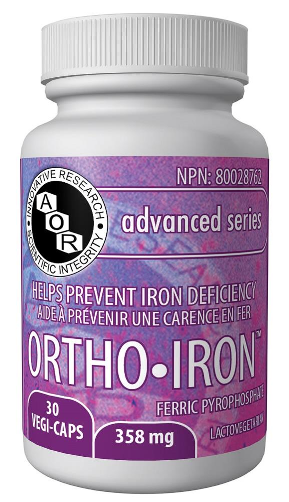 A.O.R Ortho Iron 358mg 30Vcaps