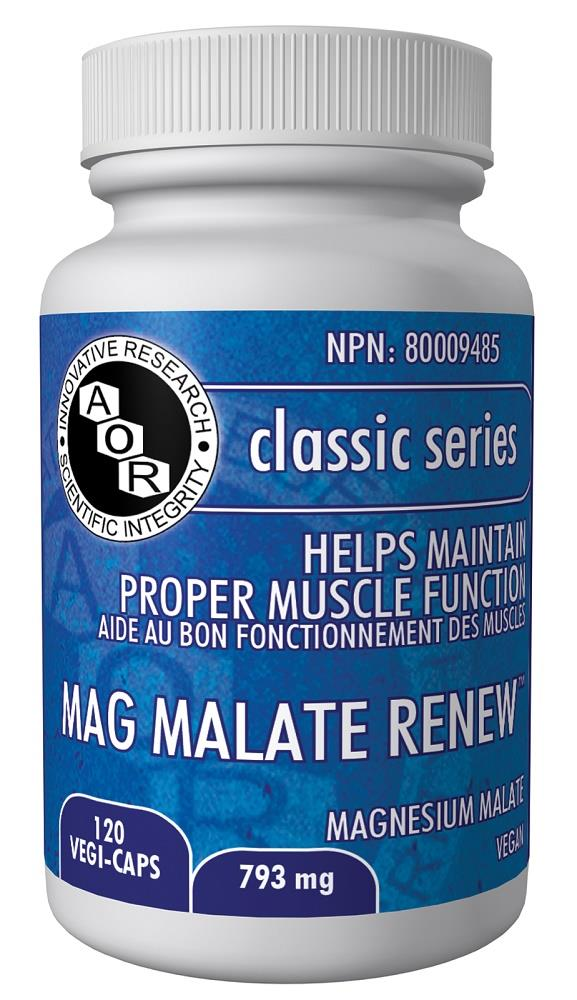 AOR Mag Malate Renew 120Vcaps*