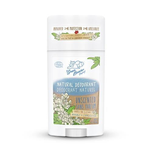 Green Beaver Unscented Natural Deodorant Stick 50g