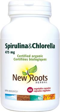 New Roots Spirulina & Chorella 60Vcaps