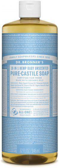 Dr. Bronner Pure-Castile Liquid Soap Baby Unscented 946ml