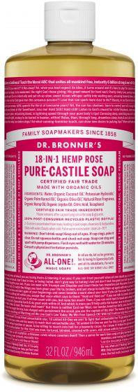 Dr. Bronner Pure-Castile Soap Rose 946ml