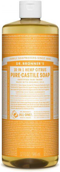 Dr. Bronner Pure-Castile Liquid Soap Citrus 944ml