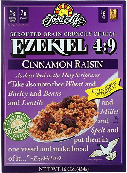 Food For Life Ezekiel 4:9 Cinnamon Raisin Whole Grain Cereal 454G