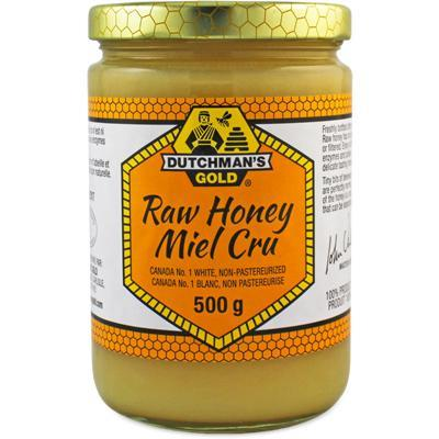 DUTCHMAN'S GOLD RAW NON-PASTEURIZED WHITE HONEY 500G