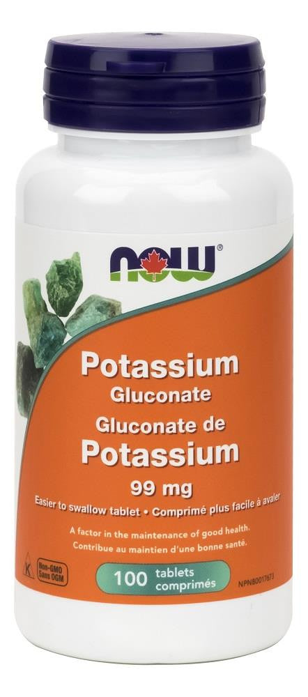 NOW Potassium Gluconate 99mg 100tabs