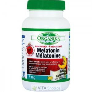 ORGANIKA MELATONIN 5MG 90 SUBLINGUAL TABLETS