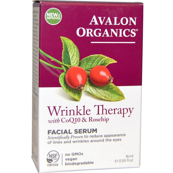 Avalon Organics Wrinkle Therapy Co Q10 & Rosehip Facial Serum 16ml