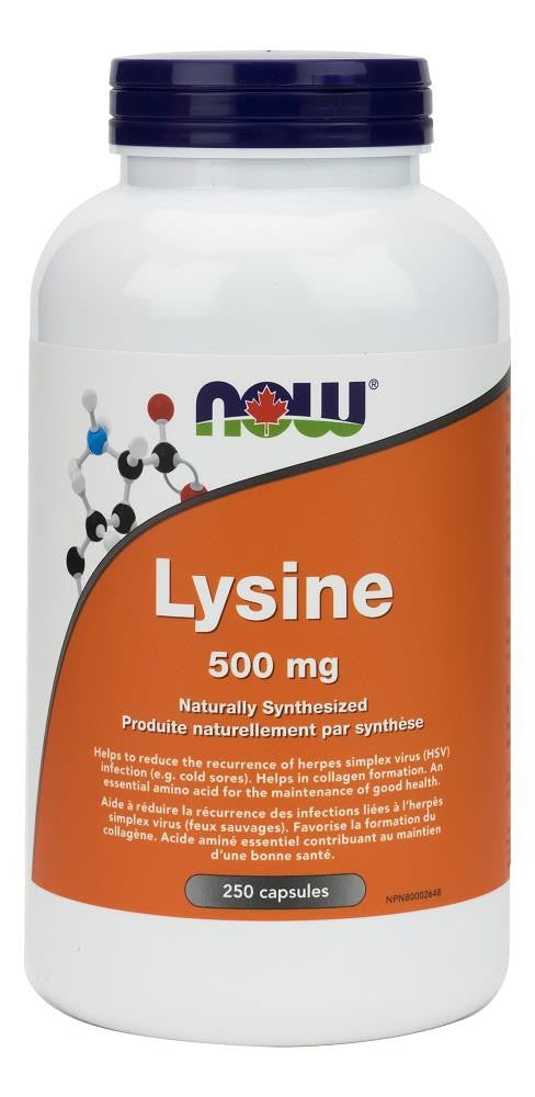 NOW L-Lysine 500mg 250caps