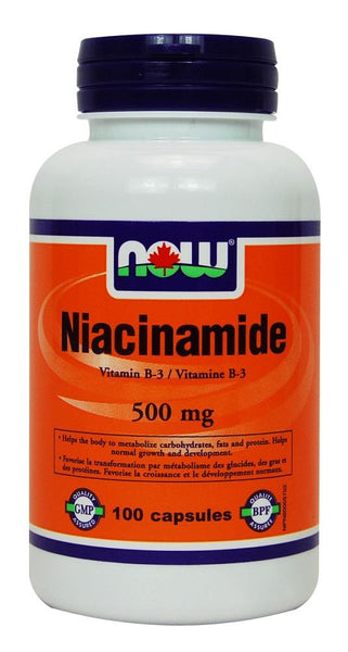 NOW Niacinamide 500mg 100caps