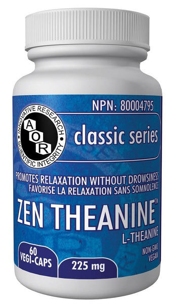 A.O.R Zen Theanine 225mg 60Vcaps
