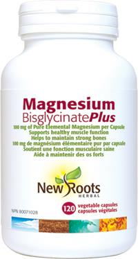 New Roots Magnesium Bisglycinate Plus 120caps