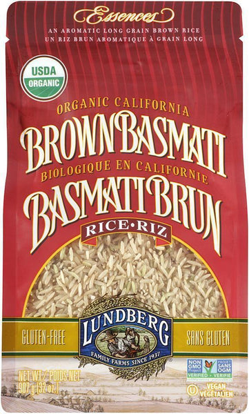 LUNDBERG ORGANIC CALIFORNIA BROWN BASMATI RICE 907G