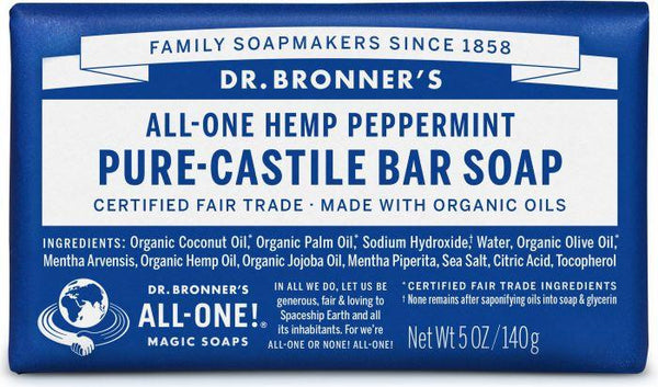 Dr. Bronner Pure-Castile Bar Soap Peppermint