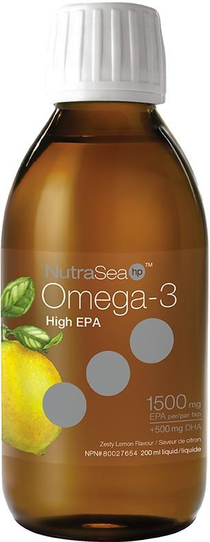 Ascenta NutriSea HP Liquid Omega-3 Lemon 200ml