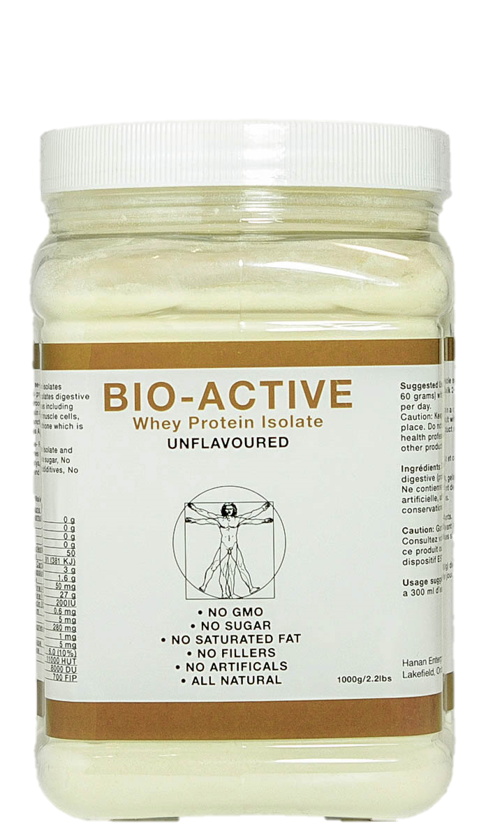 Hanan Bio-Active Whey Protein Unflavored 2.2LBS