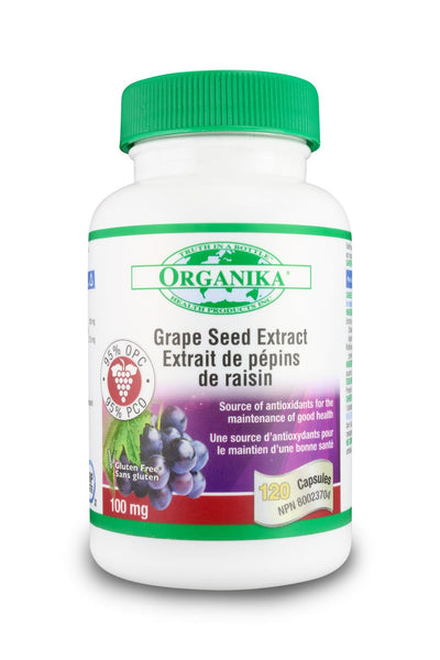 Organika Grape Seed Extract 100mg 120Caps