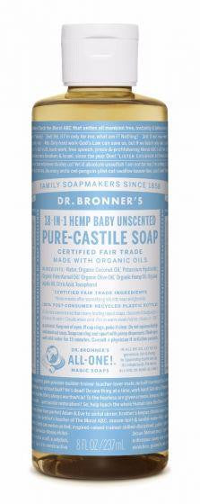 Dr Bronner Pure-Castille Liquid Soap Baby Unscented 236ml