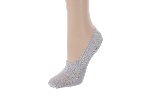 Women's 2 Pack Lace No  Show Socks