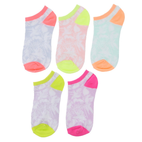 Girls' 5 Pack Low Cut Socks