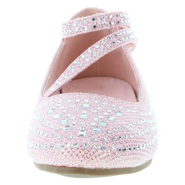 Girls' Crystal Flat Shoe