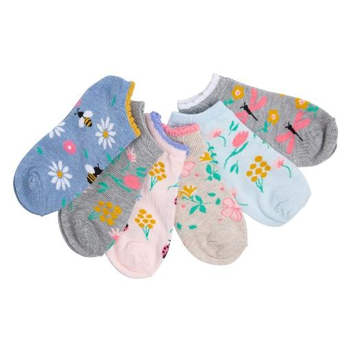 Girls' 6 Pack Low Cut Socks