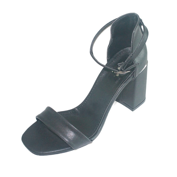 Women's  Black Heel Sandal
