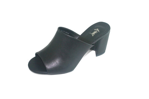 Women's Black Heel Slide Sandal