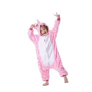PINK STRIPE UNICORN ONESIE