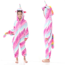 Load image into Gallery viewer, COTTON CANDY STAR UNICORN ONESIE