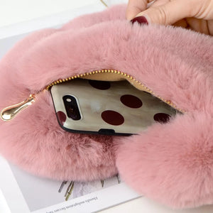 Fur Heart mini shoulder bag