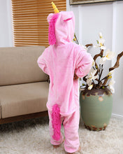 Load image into Gallery viewer, PINK ZIP UP UNICORN ONESIE