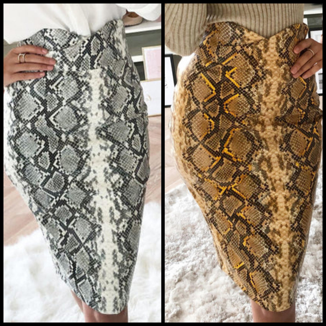 Diamond Back Pencil Skirt