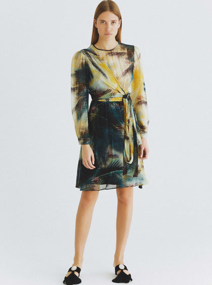 Botanic Wrap Belt Dress