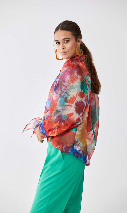 Tie-Dyed Chromatic Blouse