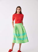 Lime Checked Tea Skirt