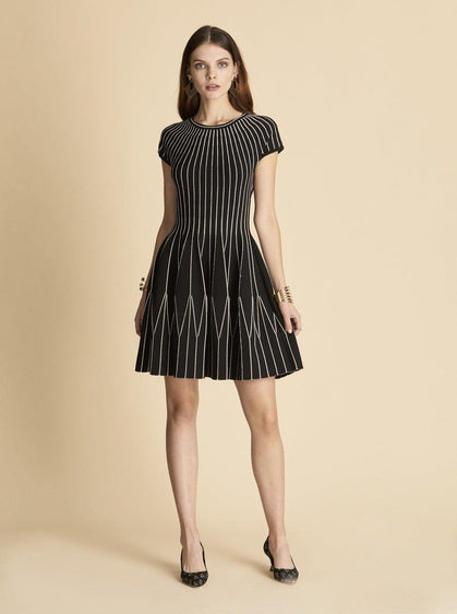 STRIPED KNITWEAR DRESS